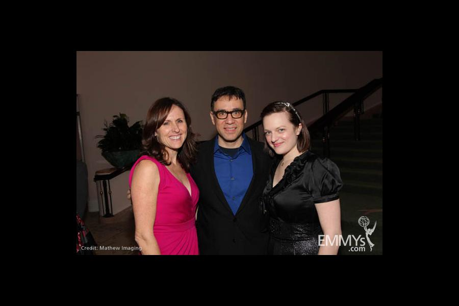 Molly Shannon, Fred Armisen and Elisabeth Moss.