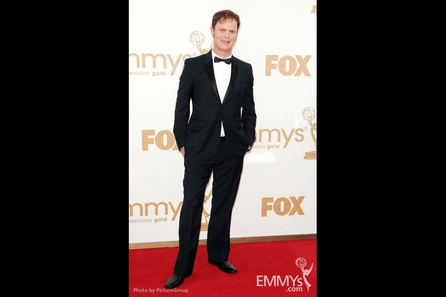 Rainn Wilson arrives at the Academy of Television Arts & Sciences 63rd Primetime Emmy Awards