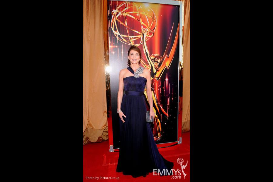 Diane Lane arrives at the Academy of Television Arts & Sciences 63rd Primetime Emmy Awards