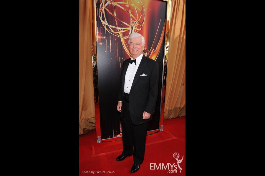 Chairman and CEO of the Motion Picture Association of America Chris Dodd arrives at the Academy of Television Arts & Sciences