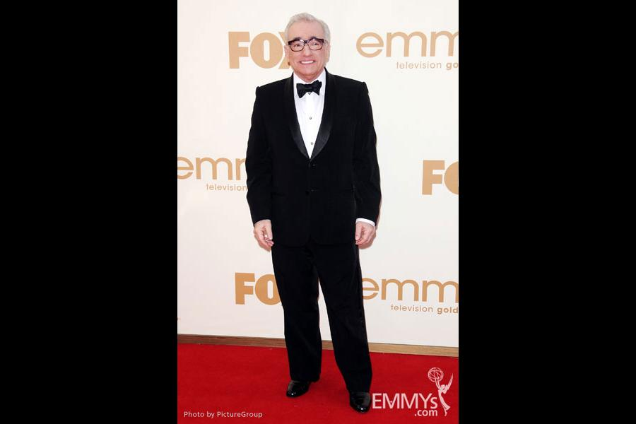 Martin Scorsese arrives at the Academy of Television Arts & Sciences 63rd Primetime Emmy Awards