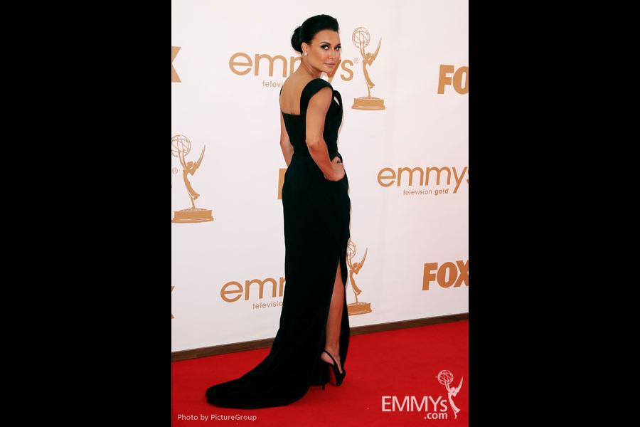 Naya Rivera arrives at the Academy of Television Arts & Sciences 63rd Primetime Emmy Awards