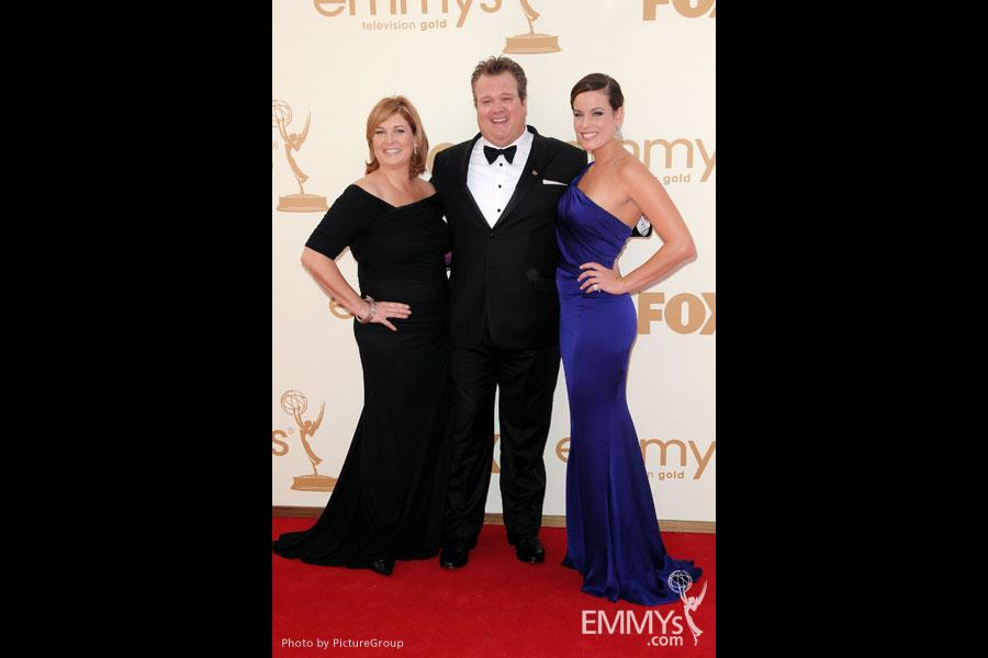 Eric Stonestreet (C) and guests arrive at the Academy of Television Arts & Sciences 63rd Primetime Emmy Awards