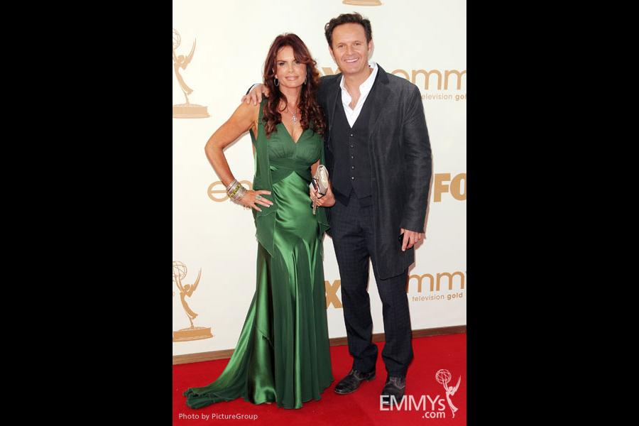 Roma Downey (L) and executive producer Mark Burnett (R)