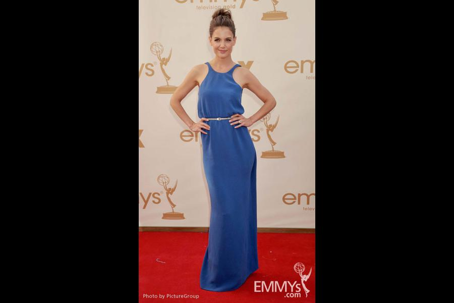 Katie Holmes arrives at the Academy of Television Arts & Sciences 63rd Primetime Emmy Awards