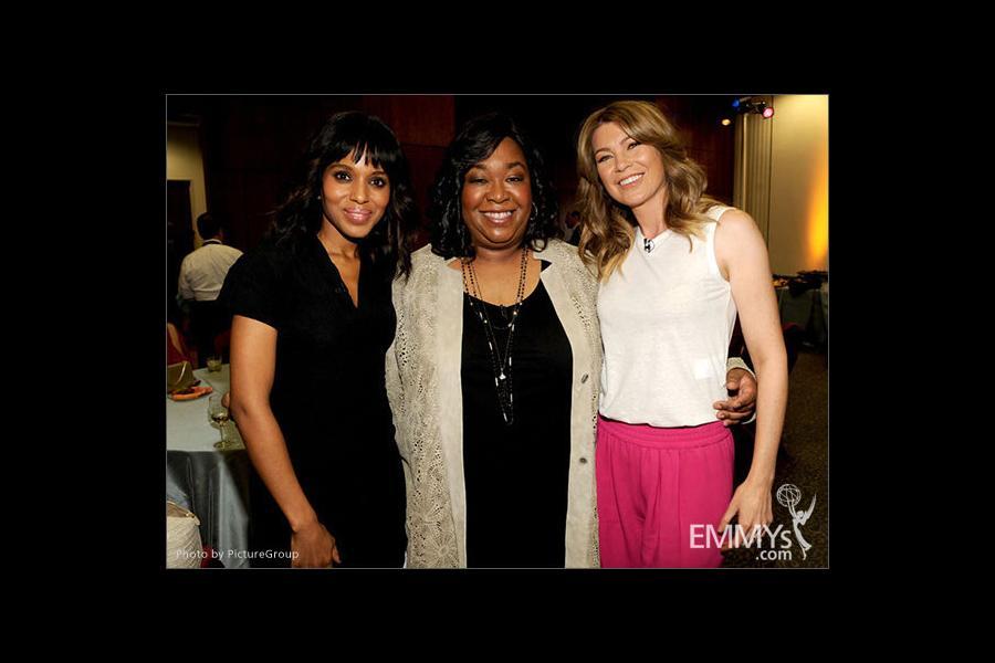 Kerry Washington, Shonda Rhimes and Ellen Pompeo attend Welcome to Shondaland