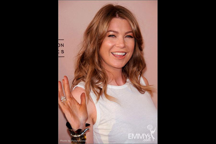 Ellen Pompeo arrives at Welcome to Shondaland