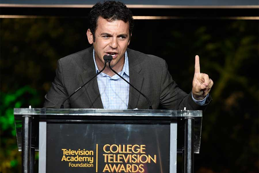 Fred Savage speaks at the 37th College Television Awards at the Skirball Cultural Center on Wednesday, May 25, 2016, in Los Angeles.