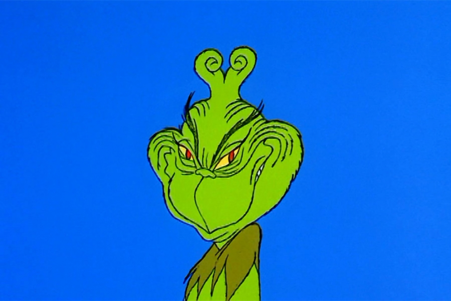 It is a graphic of Tactueux Images of the Grinch