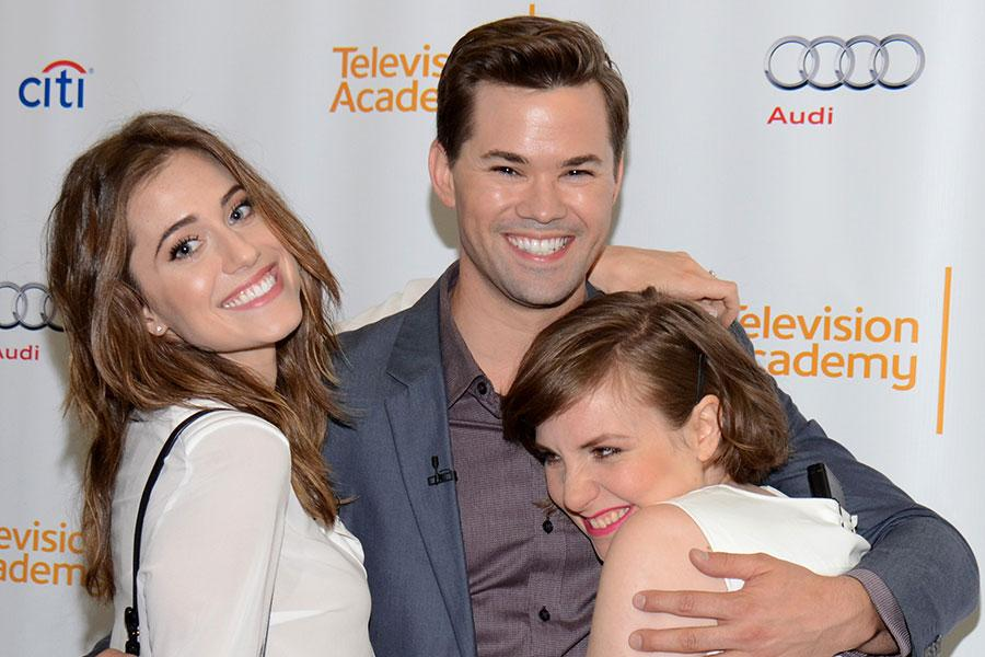 Allison Williams, Andrew Rannells, Lena Dunham