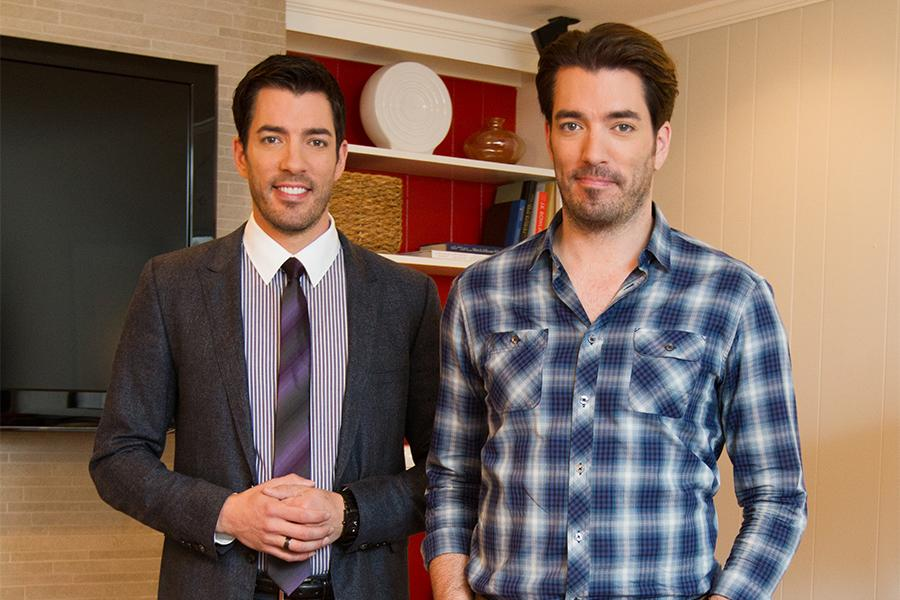 Hot properties television academy for Are the property brothers identical twins