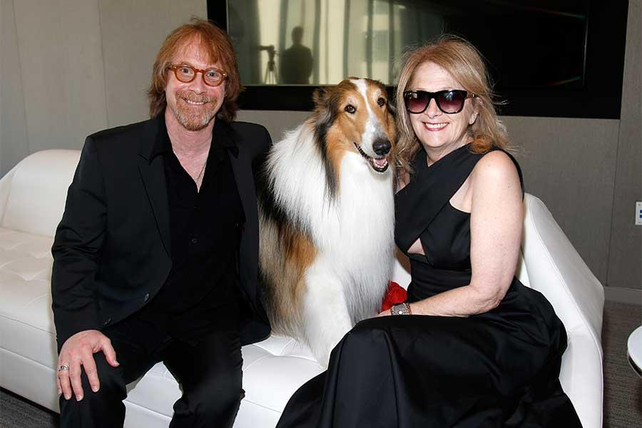 Bill Mumy, Lassie, and Eileen Mumy at the Television Academy's 70th Anniversary Gala and Opening Celebration for its new Saban Media Center on June 2, 2016