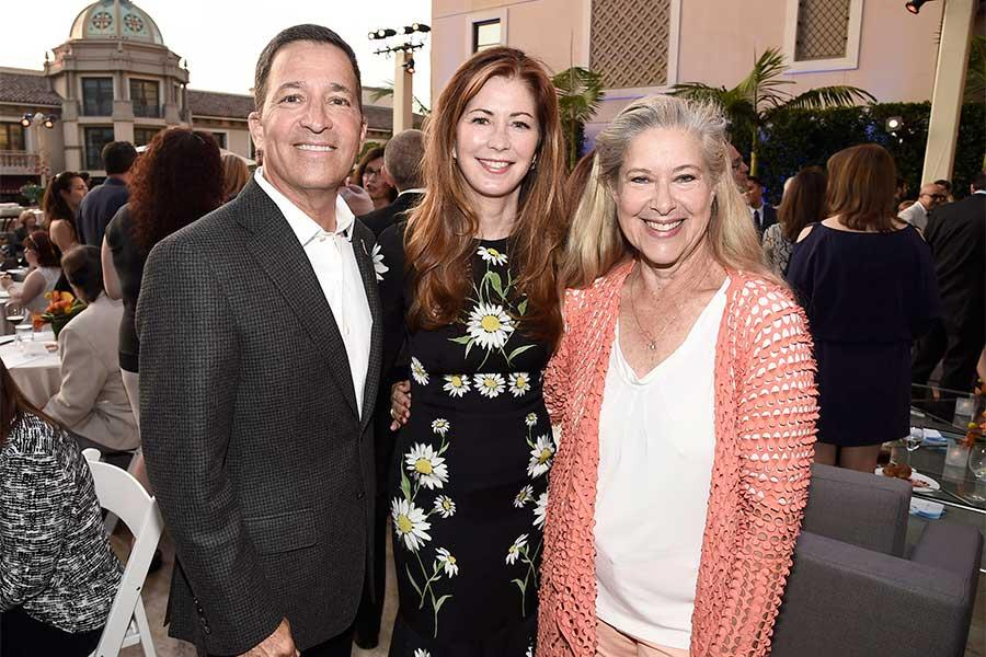 Television Academy president and CEO Bruce Rosenblum, Dana Delany, and Lynn Roth at the 2016 Academy Honors on Wednesday, June 8 at the Montage Hotel in Los Angeles, California.