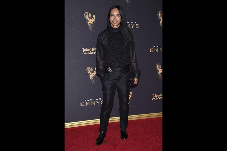 Zaldy Goco on the red carpet at the 2017 Creative Arts Emmys.