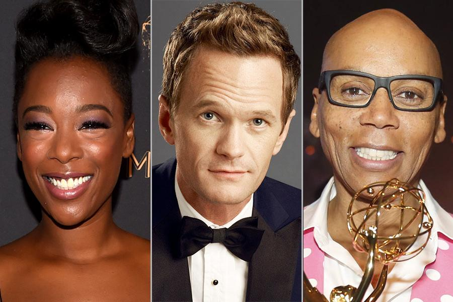 Samira Wiley, Neil Patrick Harris, and RuPaul Charles