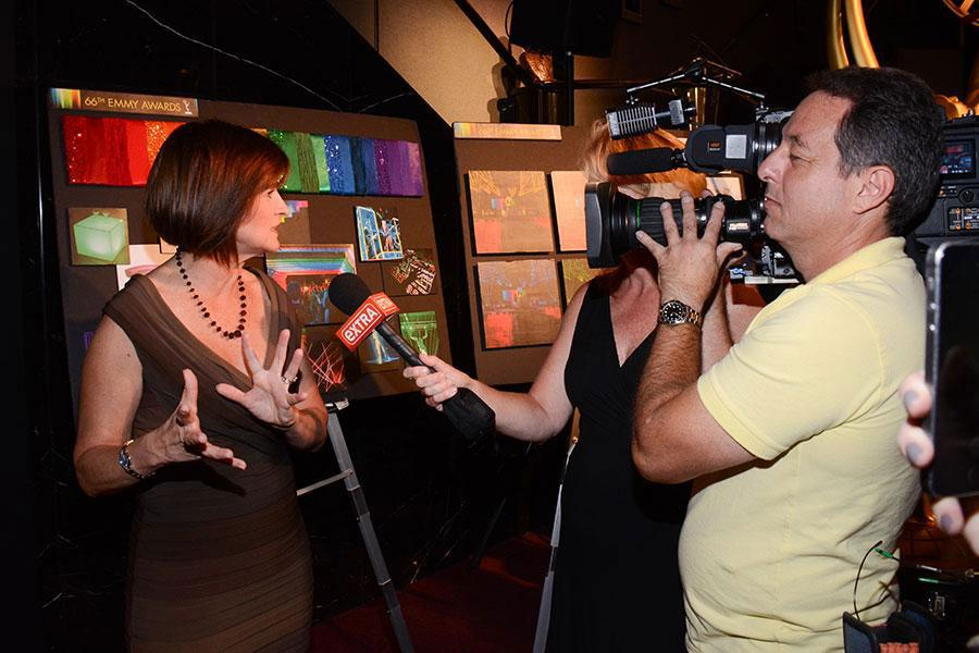 Sequoia Productions event producer Cheryl Cecchetto at the Television Academy's 66th Emmy Awards Governors Ball Sneak Peek press preview.