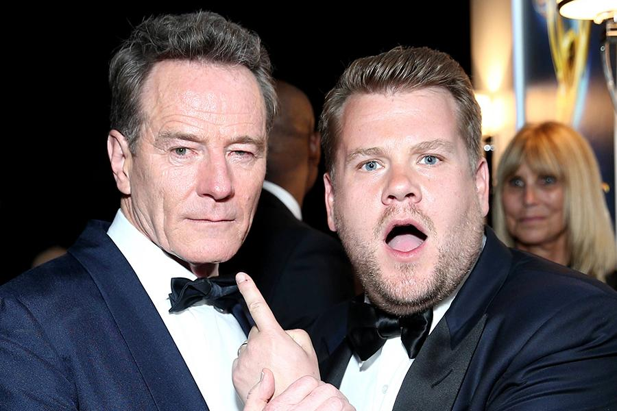 Bryan Cranston and James Corden