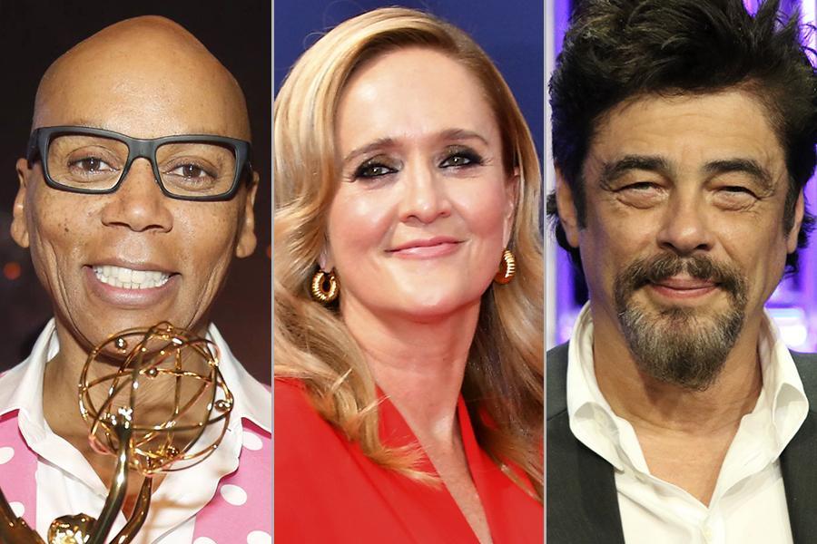 RuPaul Charles, Samantha Bee, and Benicio Del Toro