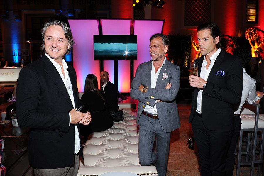 Erik Henry, Paul Steinke, and Jordan Von Netzer at the Special Visual Effects Nominee Reception August 31, 2015, at the Montage in Beverly Hills, California.
