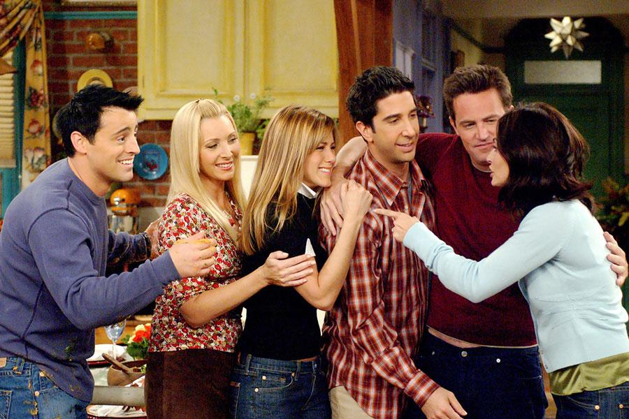 Friends stars Matt LaBlanc, Lisa Kudrow, Jennifer Aniston, David Schwimmer, Matthew Perry and Courtney Cox.