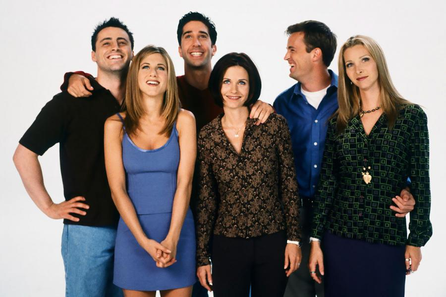 Friends stars Matt LaBlanc, Jennifer Aniston, David Schwimmer, Courtney Cox, Matthew Perry and Lisa Kudrow.