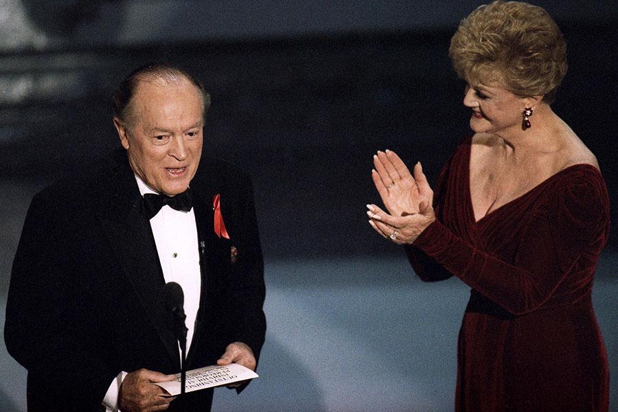 Bob Hope and Angela Lansbury