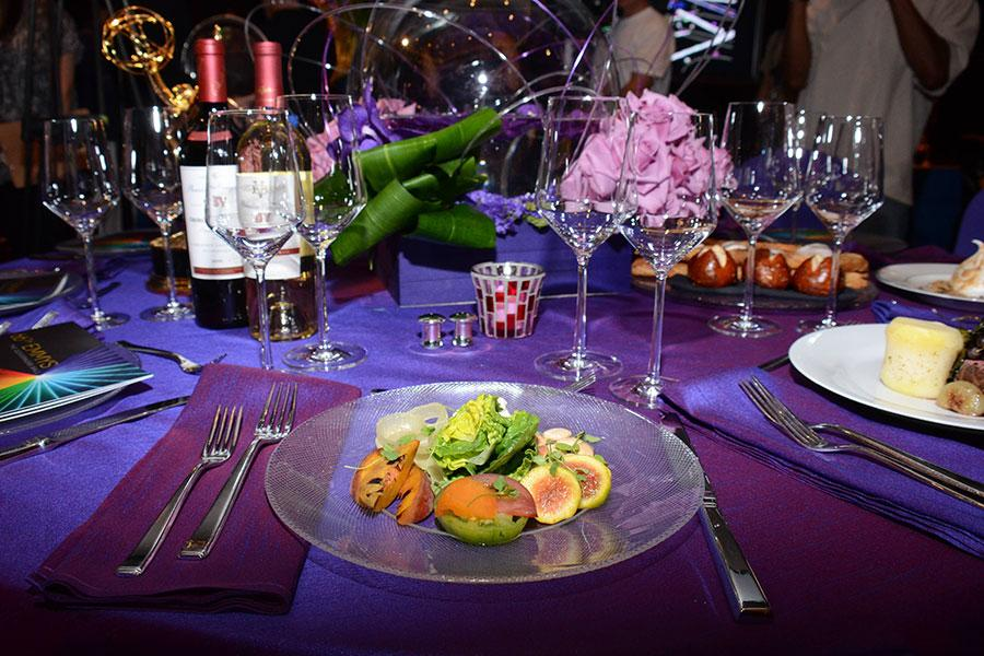 The salad course to be served at the Governors Ball.