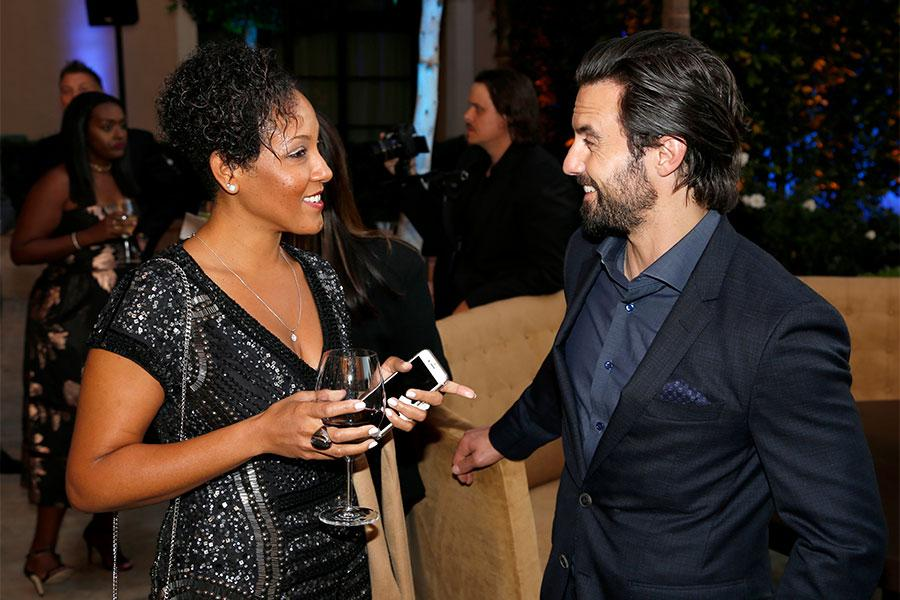 Aieka Saint-Albin and Milo Ventimiglia at the 2017 Television Academy Honors at the Montage Hotel on Thursday, June 8, 2017, in Beverly Hills, California.