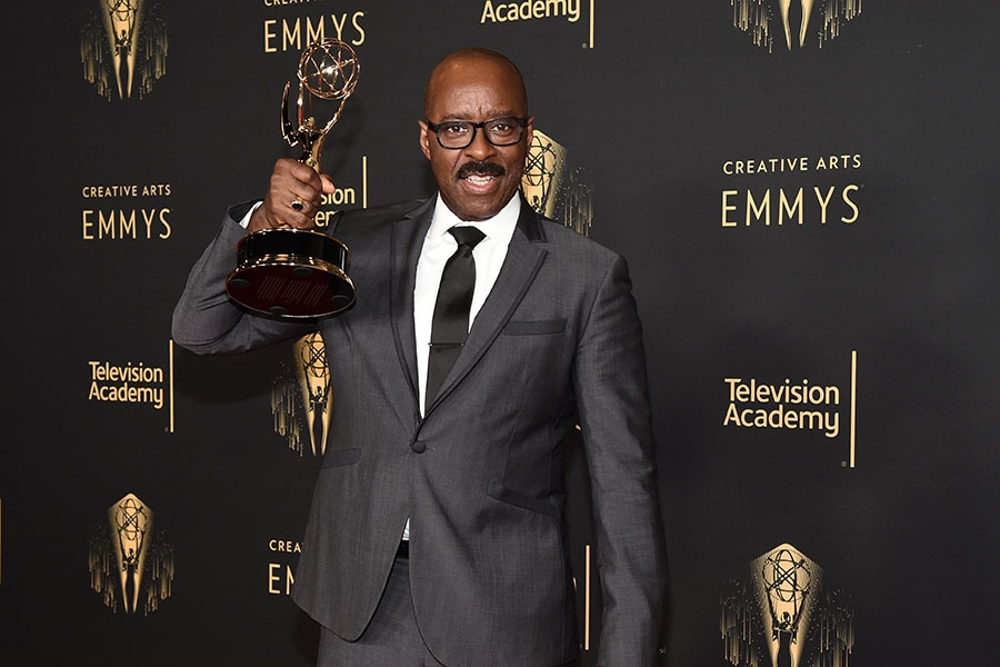 Courtney B. Vance speaks to the press at the 2021 Creative Arts Emmys, September 12, 2021 in Los Angeles, California.