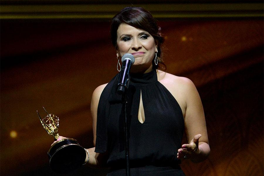 Diana Alvarado onstage at the 67th Los Angeles Area Emmy Awards July 25, 2015, at the Skirball Cultural Center in Los Angeles, California.