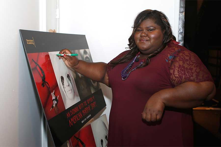 Gabourey Sidibe at An Evening with the Women of American Horror Story in Hollywood, California.