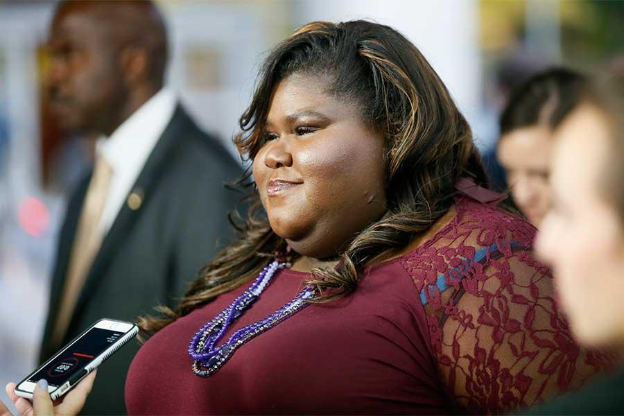 Gabourey Sidibe arrives at An Evening with the Women of American Horror Story in Hollywood, California.