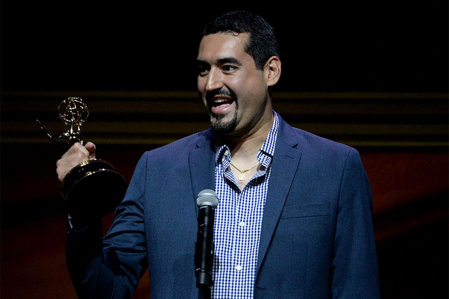Jaime Sanchez onstage at the 67th Los Angeles Area Emmy Awards July 25, 2015, at the Skirball Cultural Center in Los Angeles, California.