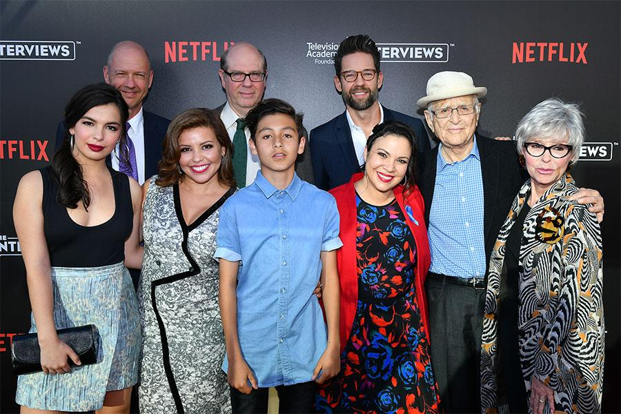 The cast and creators of One Day at a Time at The Power of TV: A Conversation with Norman Lear and One Day at a Time, presented by the Television Academy Foundation and Netflix in celebration of the Foundation's 20th Anniversary of THE INTERVIEWS: An Oral