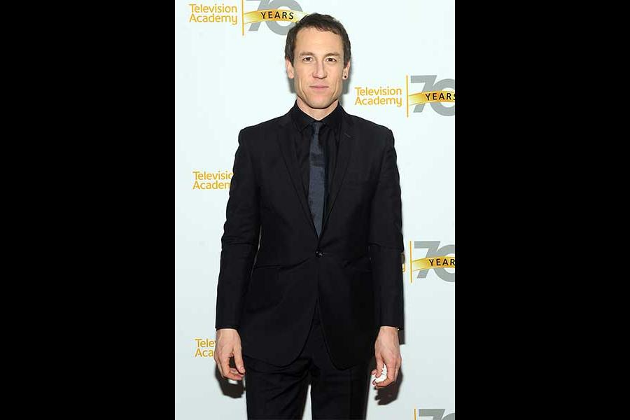 Actor Tobias Menzies arrives at the Outlander: From Scotland to Paris event, April 5, 2016, at the NYU Skirball Center for the Performing Arts in New York City.
