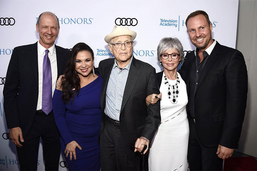 Mike Royce, Gloria Calderon Kellett, Norman Lear, Rita Moreno, Brent Miller