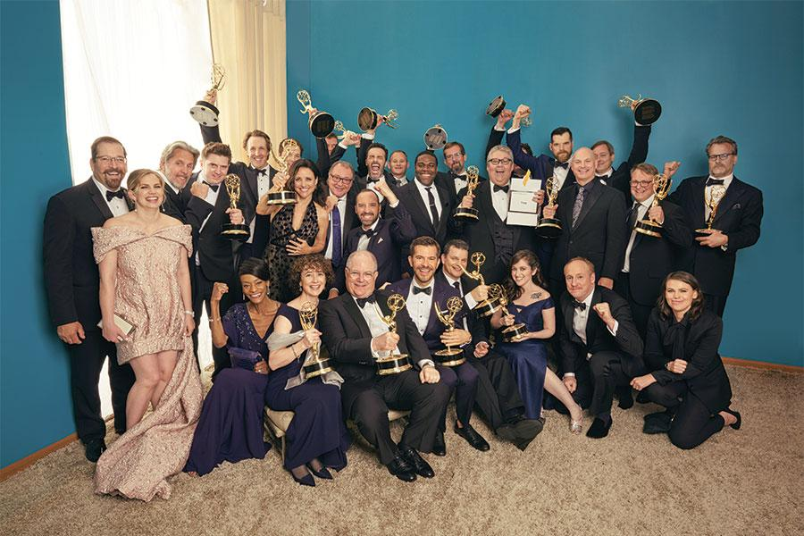 The cast and producers of Veep