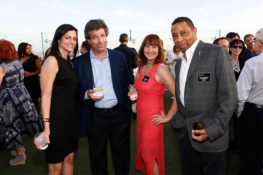 "Allison Binder, Sandy Sigal, Susan Nessanbaum-Goldberg and Hayma ""Screech"" Washington at the Executives Emmy Celebration in West Hollywood, California."