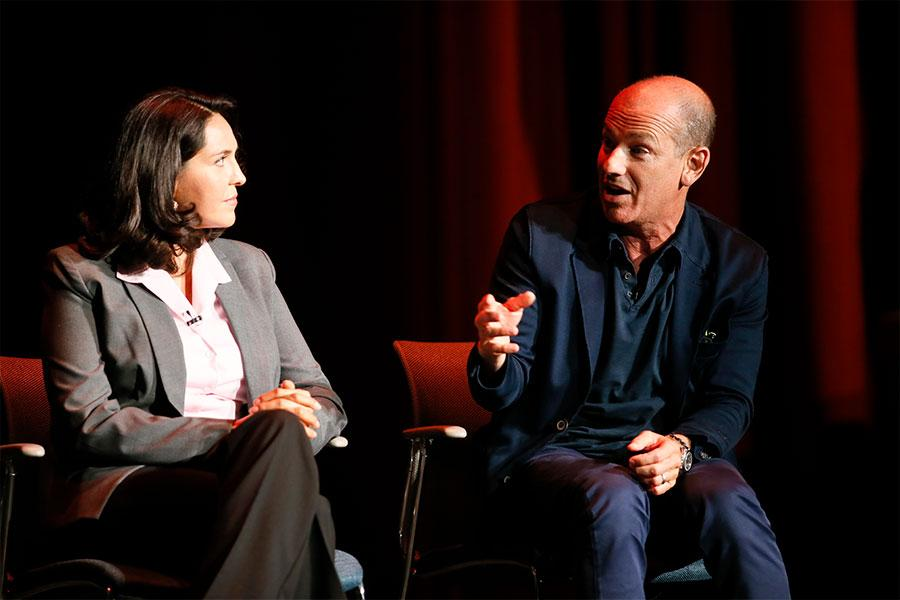 Ana Yanez-Corream and Howard Gordon at Unlock Our Potential at the Television Academy's Saban Media Center, August 9, 2016.
