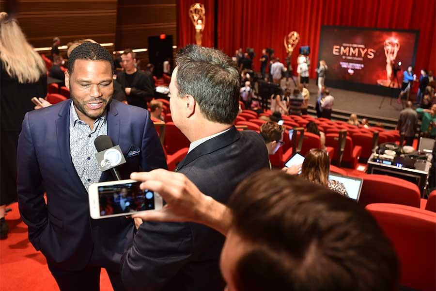 Anthony Anderson is interviewed in the Wolf Theatre at the Saban Media Center, North Hollywood, California on July 14, 2016.