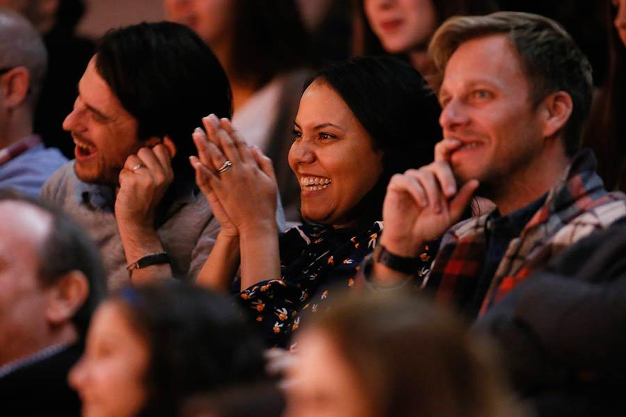 The audience enjoys the panel discussion at An Evening with The Fosters in Los Angeles, California.