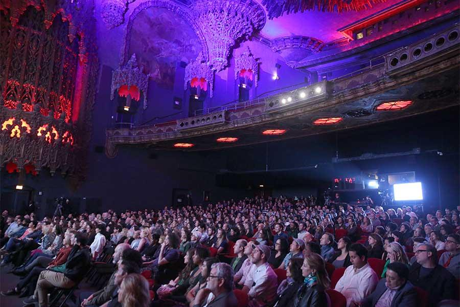The audience enjoys the panel at Transparent: Anatomy of an Episode, March 17, 2016 in Los Angeles.