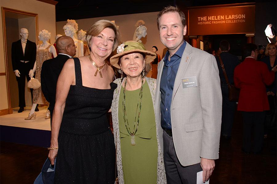 VP of Education for FIDM Barbara Bundy, guest curator and designer Mary Rose, and Television Academy President and COO Maury McIntyre.