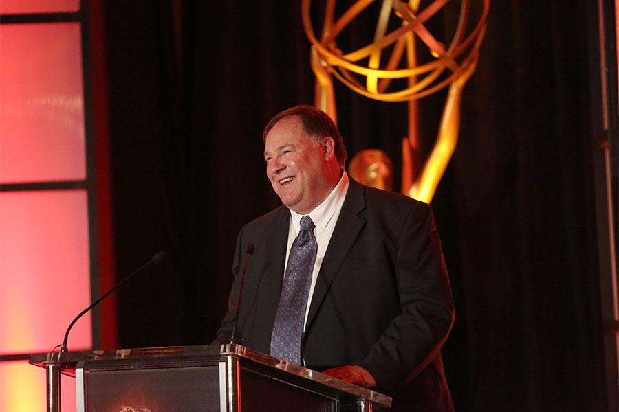 Engineering Awards committee chairman Barry Zegel at the 68th Engineering Emmy Awards, October 28, 2016 at Loews Hollywood Hotel in Los Angeles, California.