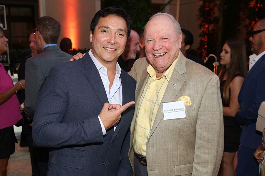 Benito Martinez and Conrad G. Bachmann at the Performers Peer Group Celebration August 24 at the Montage in Beverly Hills, California.