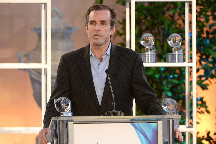 Bob Woodruff accepts the award for E60 Presents: Dream On: Stories of Boston's Strongest at the awards presentation at the Eighth Annual Television Academy Honors, May 27 at the Montage Beverly Hills.