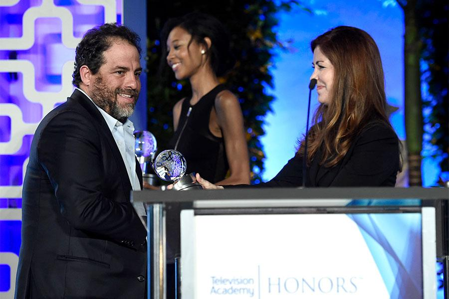 Brett Ratner and Dana Delany at the 2017 Television Academy Honors at the Montage Hotel on Thursday, June 8, 2017, in Beverly Hills, California.