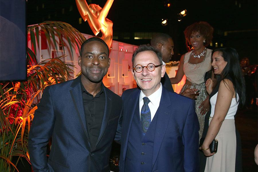 Sterling K. Brown and Michael Emerson at the Performers Nominee Reception, September 16, 2016 at the Pacific Design Center, West Hollywood, California.