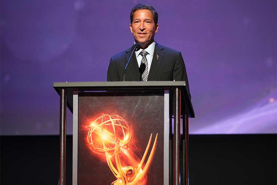 Bruce Rosenblum, chairman and CEO of the Television Academy, speaks at the 68th Los Angeles Area Emmys, July 23, 2016, at the Saban Media Center, North Hollywood, California.