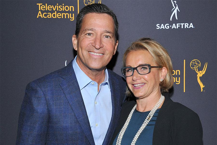 Television Academy chairman and CEO Bruce Rosenblum and SAG-AFTRA president Gabrielle Carteris at the Television Academy's Dynamic and Diverse event, August 25, 2016, at the Saban Media Center, North Hollywood, California.